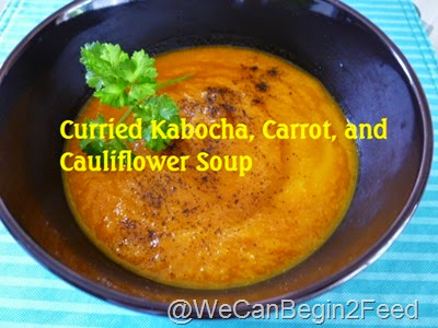 Curried Kabocha, Carrot, and Cauliflower Soup