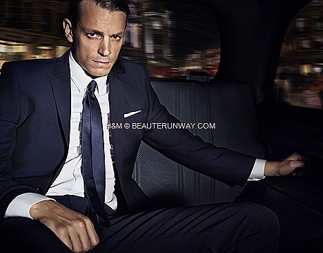 Joel Kinnaman H&M autumn winter 2012 2013 collection classic jacket slim overcoat in navy grey single-breasted suit white smart shirt skinny tie polo tee shirt sweater denim corduroy shorts PRINT STORE FLIM TV CAMPAIGN Lana Del Rey