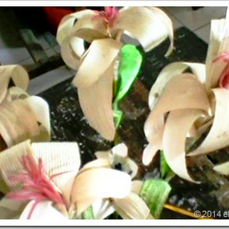 Eltelu Contoh Karya Kerajinan Berupa Bunga Dari Bahan Limbah Kulit