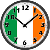 Ireland Flag Analog Clock