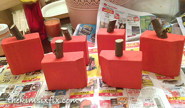 Painting block pumkins