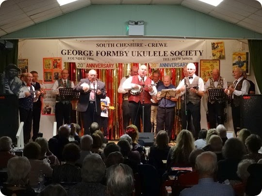 South Cheshire George Formby Ukulele Society in  concert