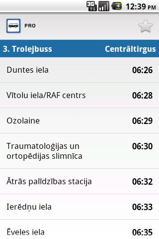 Transport in Riga PRO- screenshot
