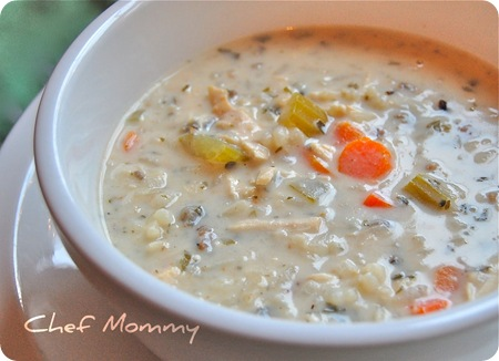 Creamy chicken and wild rice crock pot soup