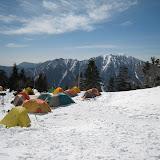 西穂山荘のテント場