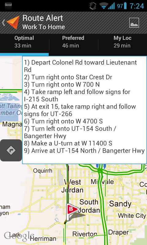 Route Alert - screenshot