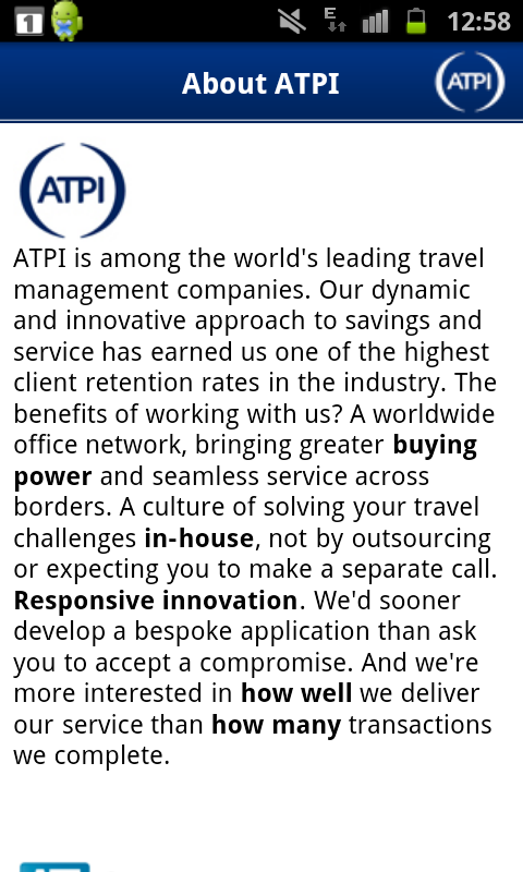 ATPI On The Go - Travel App - screenshot