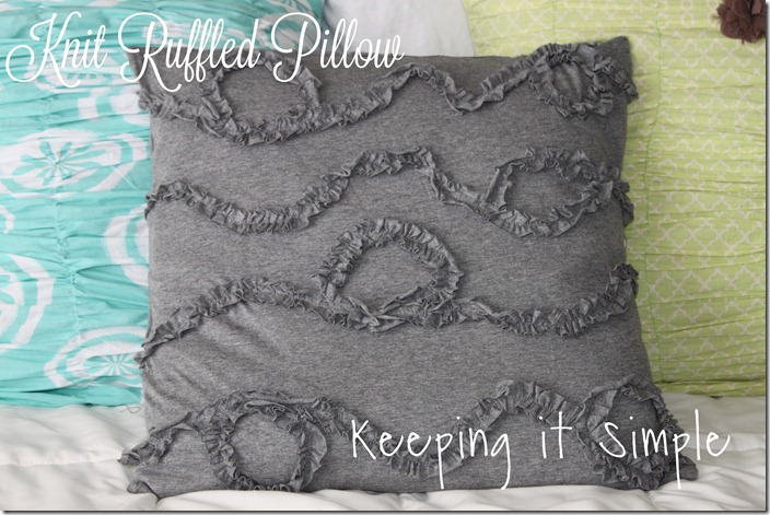 knit ruffle pillow