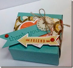 peachy keen stampin up uk gift box