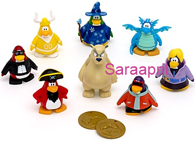 Club Penguin 8 Pack Figure Set Wave 3 :)