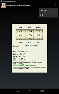 BMI/BSA/LBW/IBW-Healthy Weight - screenshot thumbnail