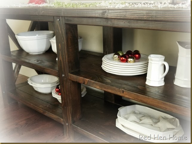 Red Hen Home Grand Rustic X Buffet 5