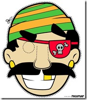 Mascaras De Pirata Para Imprimir Y Colorear Nos Disfrazamos