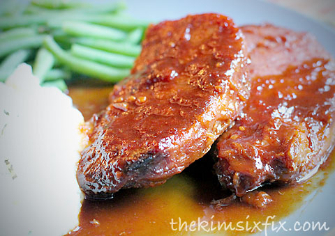 Sweet glazed pork chops
