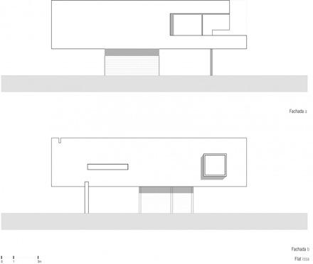 plano-fachada-casa-flat-issa-dionne-arquitectos