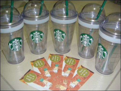 1 Starbucks Tumbler + 1 SBX Tall Beverage GC