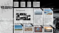 X10 masonry transparent blogger template 225x128