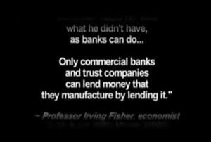 Only commercial banks and trust companies can lend money that they manufacture by lending it