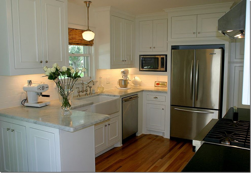 Small White Kitchens marble kitchen countertops: pictures & ideas from hgtv | hgtv