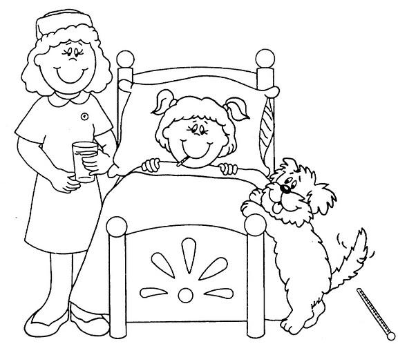 Dibujos De Enfermeras Para Colorear