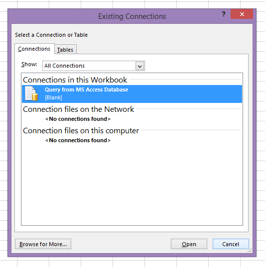 Getting database data from Microsoft Excel | (The New