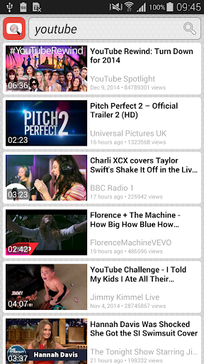 Quick YouTube Search Widget