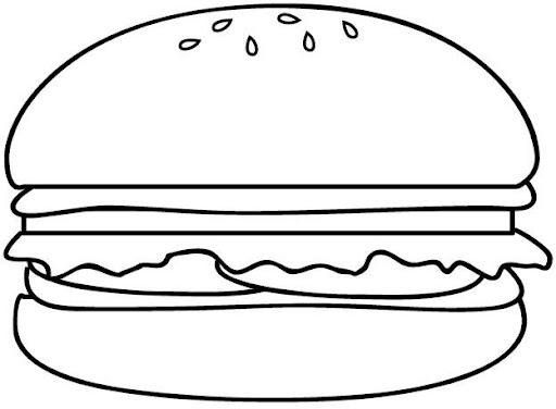 Dibujo de hamburguesa