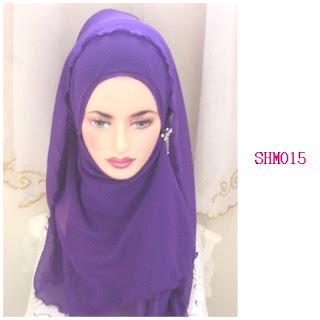 shawl halfmoon purple indigo