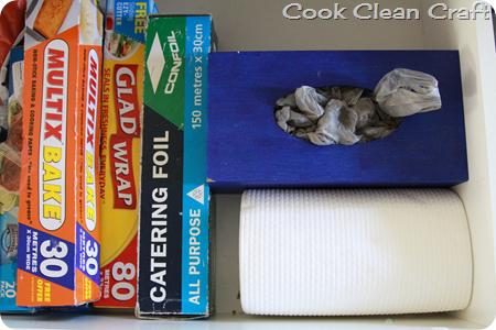 Tissue box cover as Plastic Bag Holder