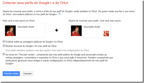 integrar G  no Orkut 2