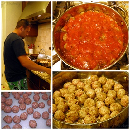 dad's Our Lady of Mount Carmel meatballs