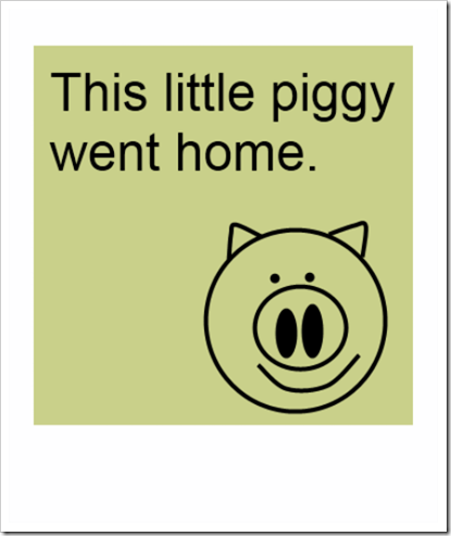 this piggy went home