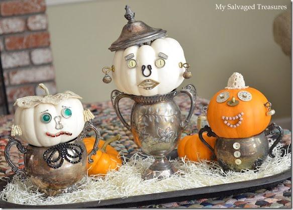 mini pumpkin faces