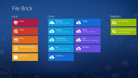 File and Cloud Manager for Windows 8 Modern UI