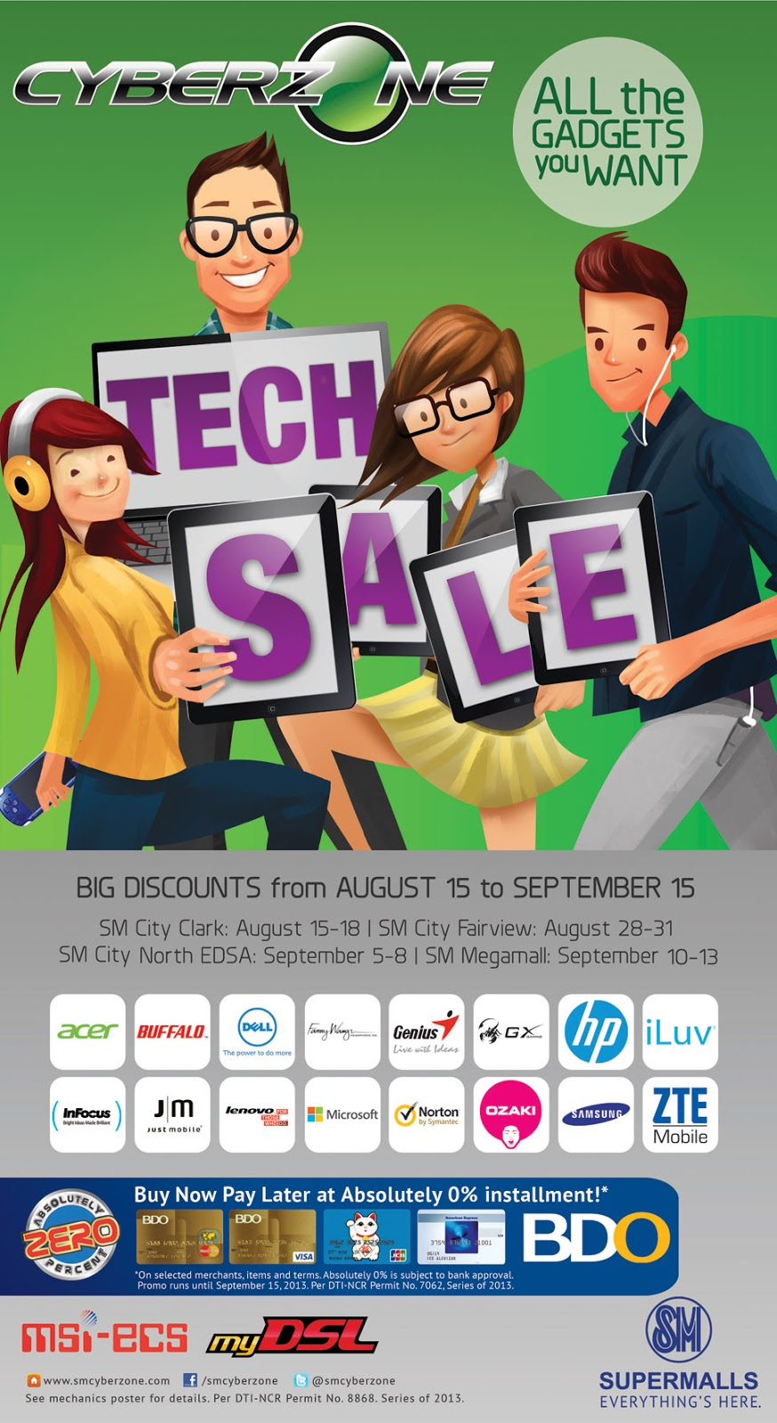 sm cyberzone sale august 15 september 15