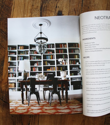 Emily A. Clark home office in The Design Cookbook by Kelly Edwards