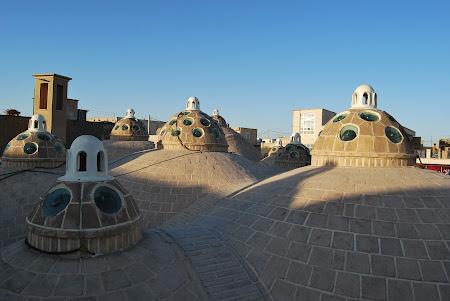Fotografii Iran: Kashan - pe acoperisul Borujerdis
