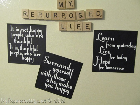upcycled advertising magnets