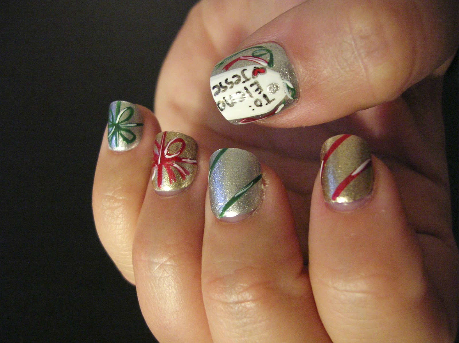 Ecklipsed By Color On The Fifth Day Of Christmas My Nail Art Gave