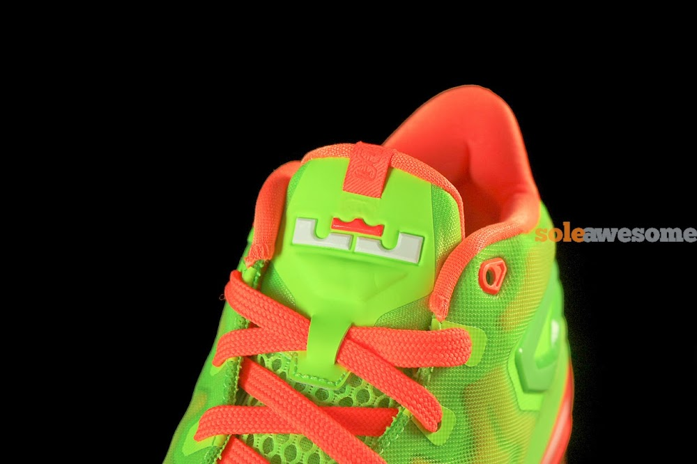 wholesale dealer e8ef8 eb378 ... Nike Lebron XI Low GS in Bright Volt and Really Bright Orange ...