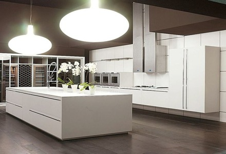 muebles-cocina-minimalista Cocinas modernas blancas