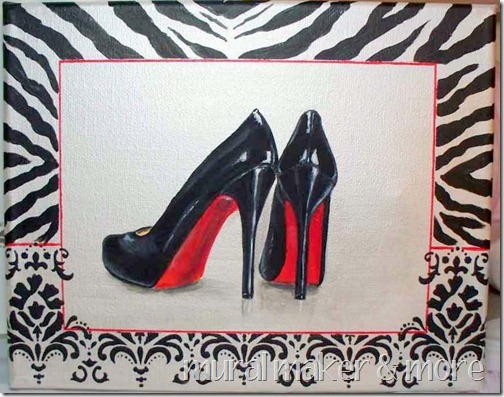 0f003d247cc1 Christian Louboutin Shoes Painting - Just Paint It Blog