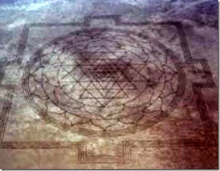 Yantra sri dell'Oregon crop circle