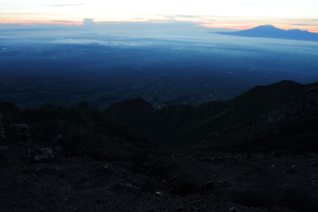 Some of the small perks of climbing the steep Mount Merapi