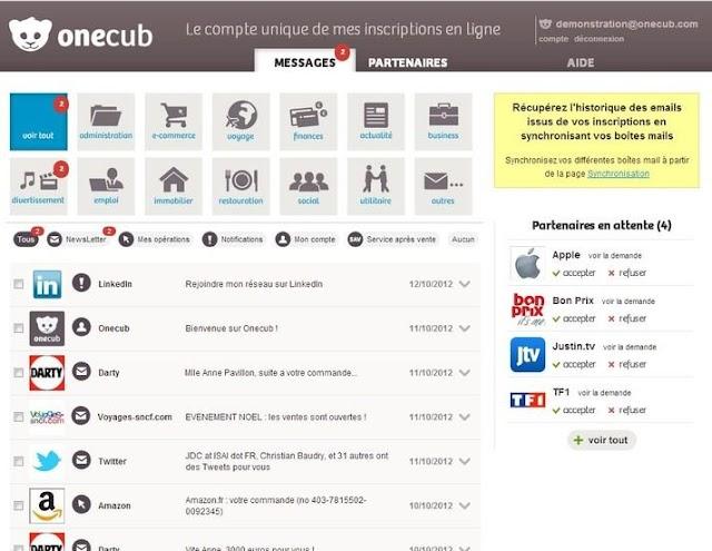 Onecub : un outil innovant pour gérer vos mails et vos inscriptions en ligne