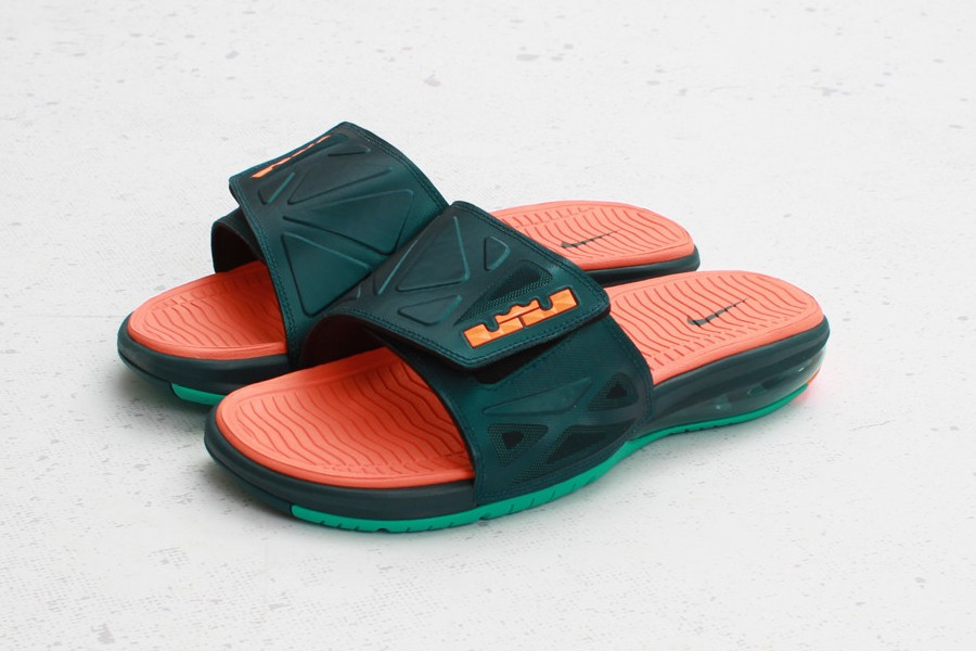 ... Nike Air LeBron 2 Slide Elite 8211 Dark Atomic TealTotal Orange ...