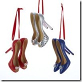 kurt adler high heel ornaments RBW