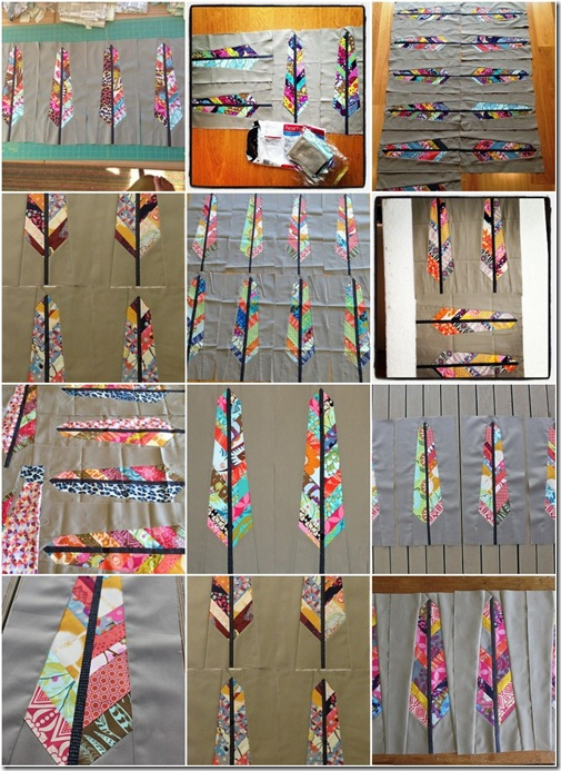 Feather Blocks mosaic