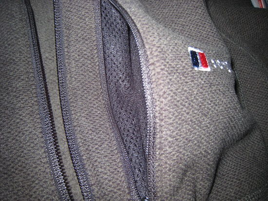 Chest Pocket, showing mesh lining